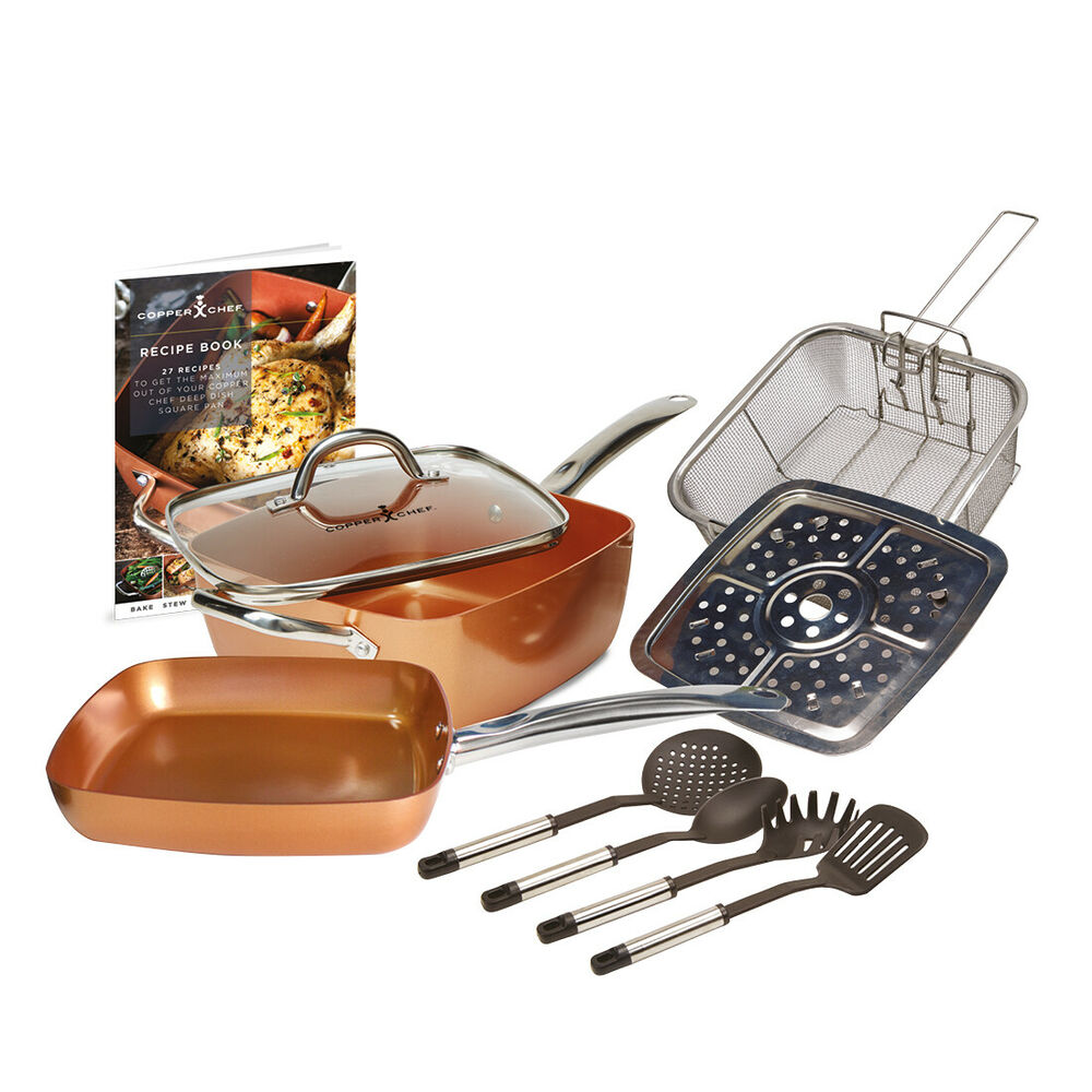 Copper Chef 10 Piece Non Stick 9 5 Quot Large Deep Sided
