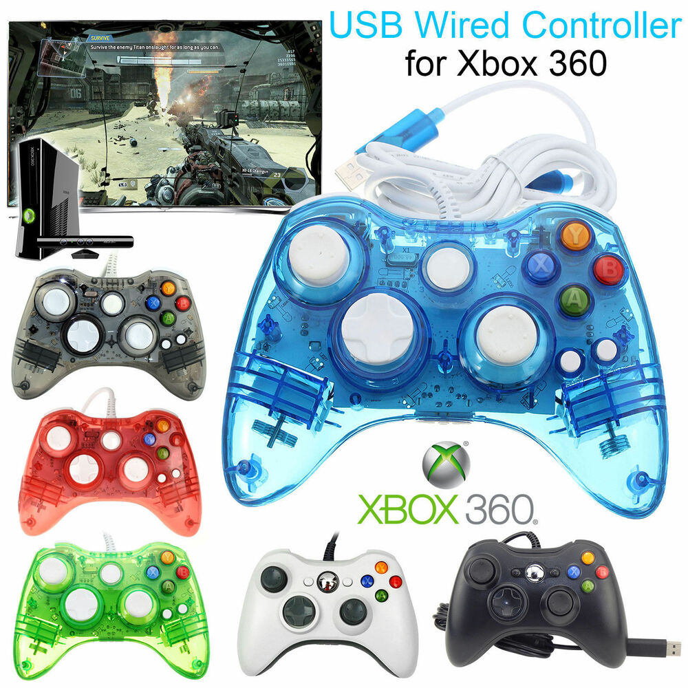 Glow USB Wired GamePad Console Game Controller For Microsoft Xbox360 ...