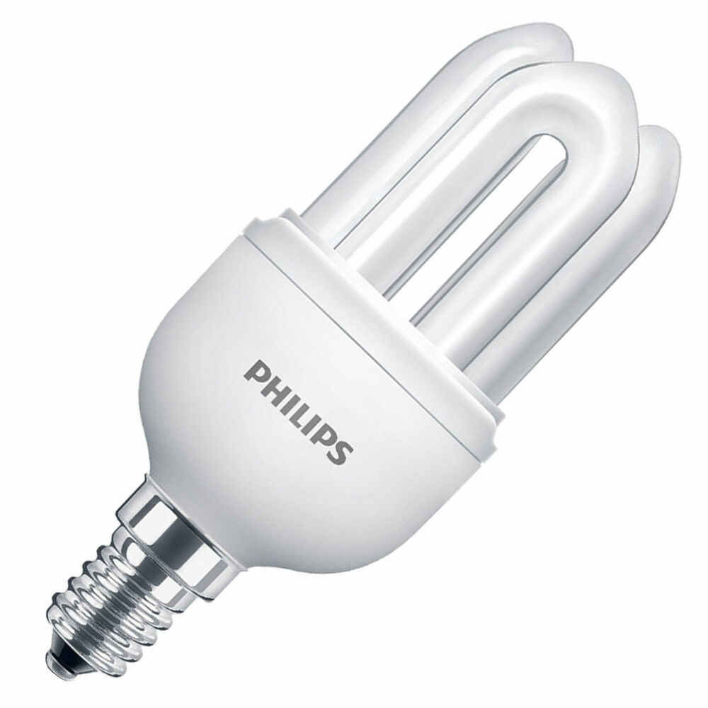 Philips 8w 40w E14 Ses Small Screw Energy Saving Warm Cool