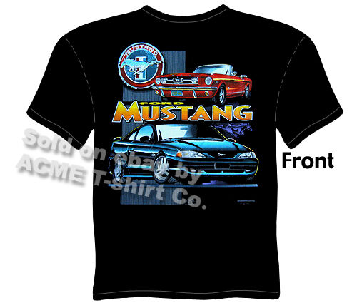 Mustang Clothing Classic Ford Mustang T Shirt Convertible