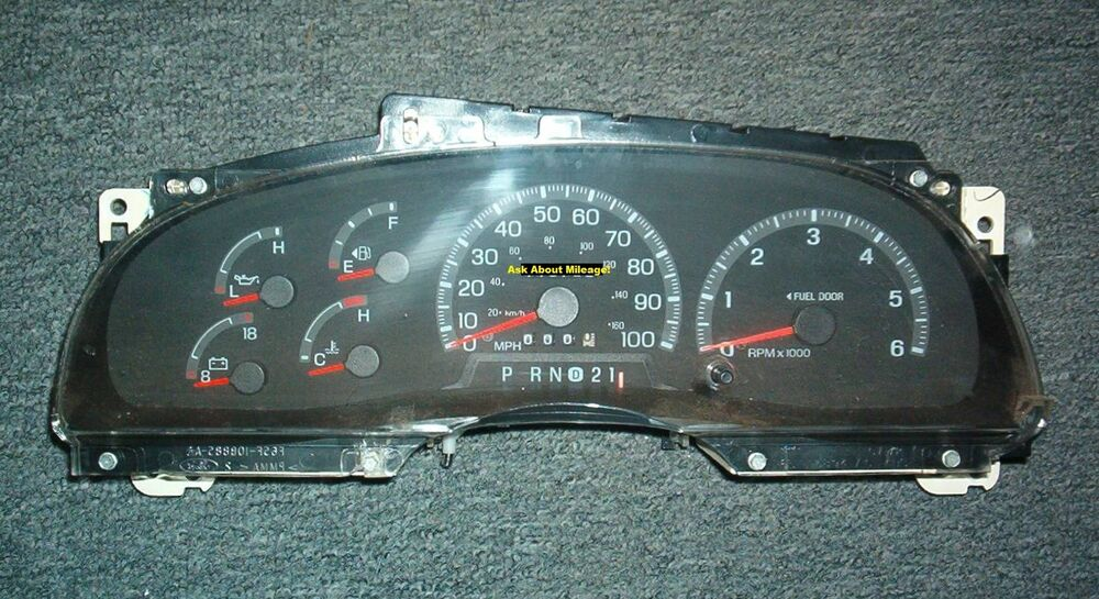 ford f150 f250 pickup expedition gas instrument cluster speedometer tach 97 98 ebay. Black Bedroom Furniture Sets. Home Design Ideas