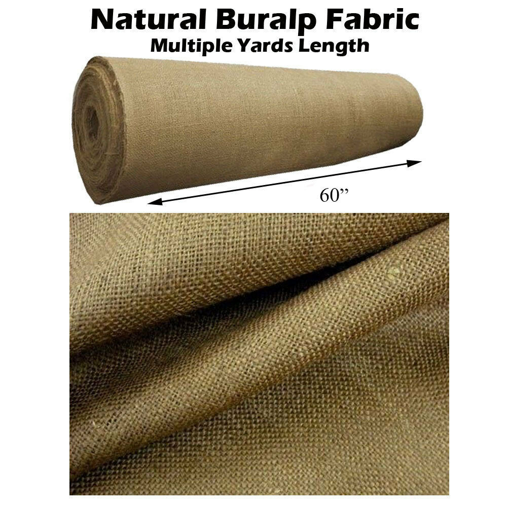 Natural burlap premium vintage jute fabric 60 wide for What is burlap material