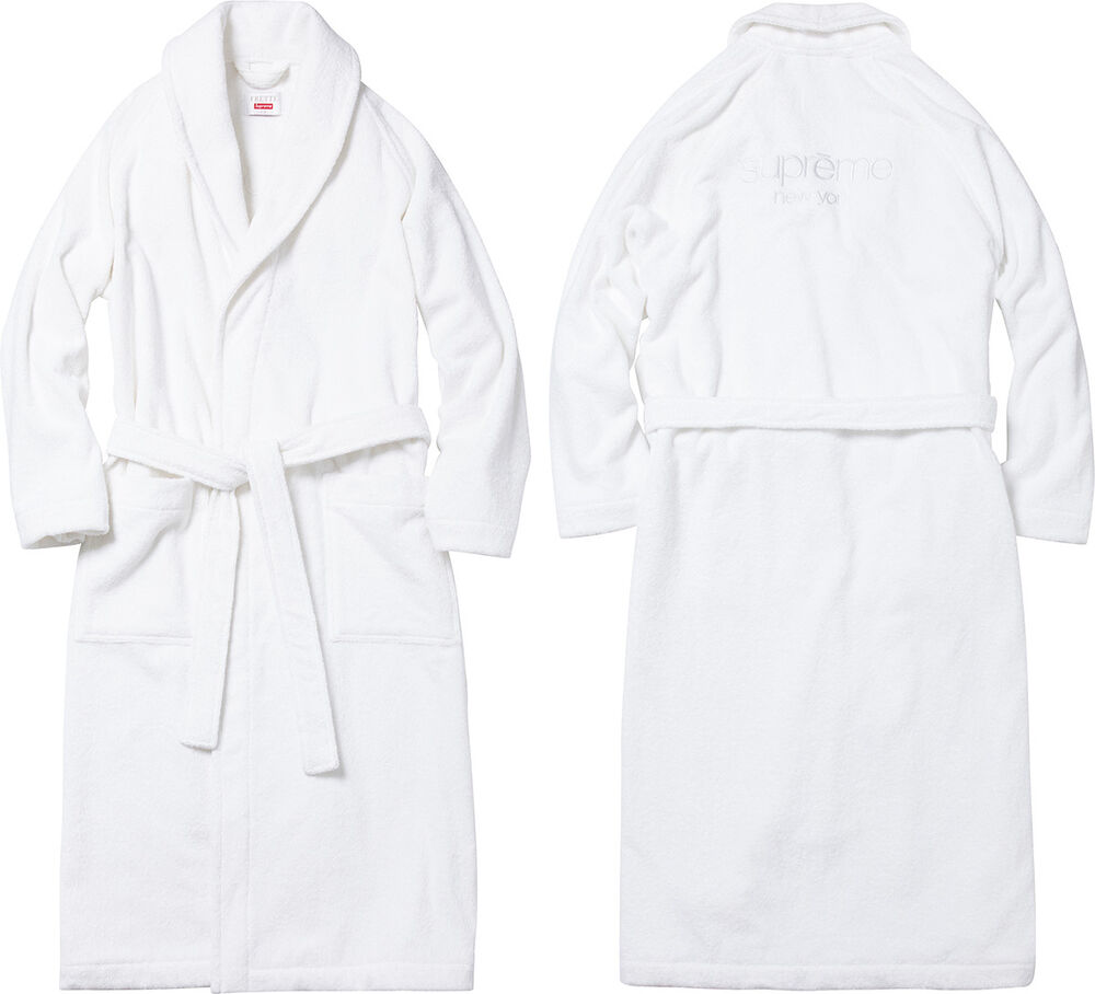 Bathrobe: Supreme Frette Terry Bathrobe Robe White S/M Box Logo