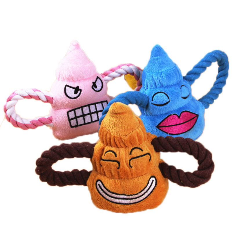 Pet Puppy Chew Squeaker Squeaky Plush Sound Poo Ball For ...