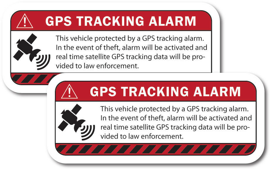Warning Gps Tracking Alarm Decals Anti Theft Sticker For
