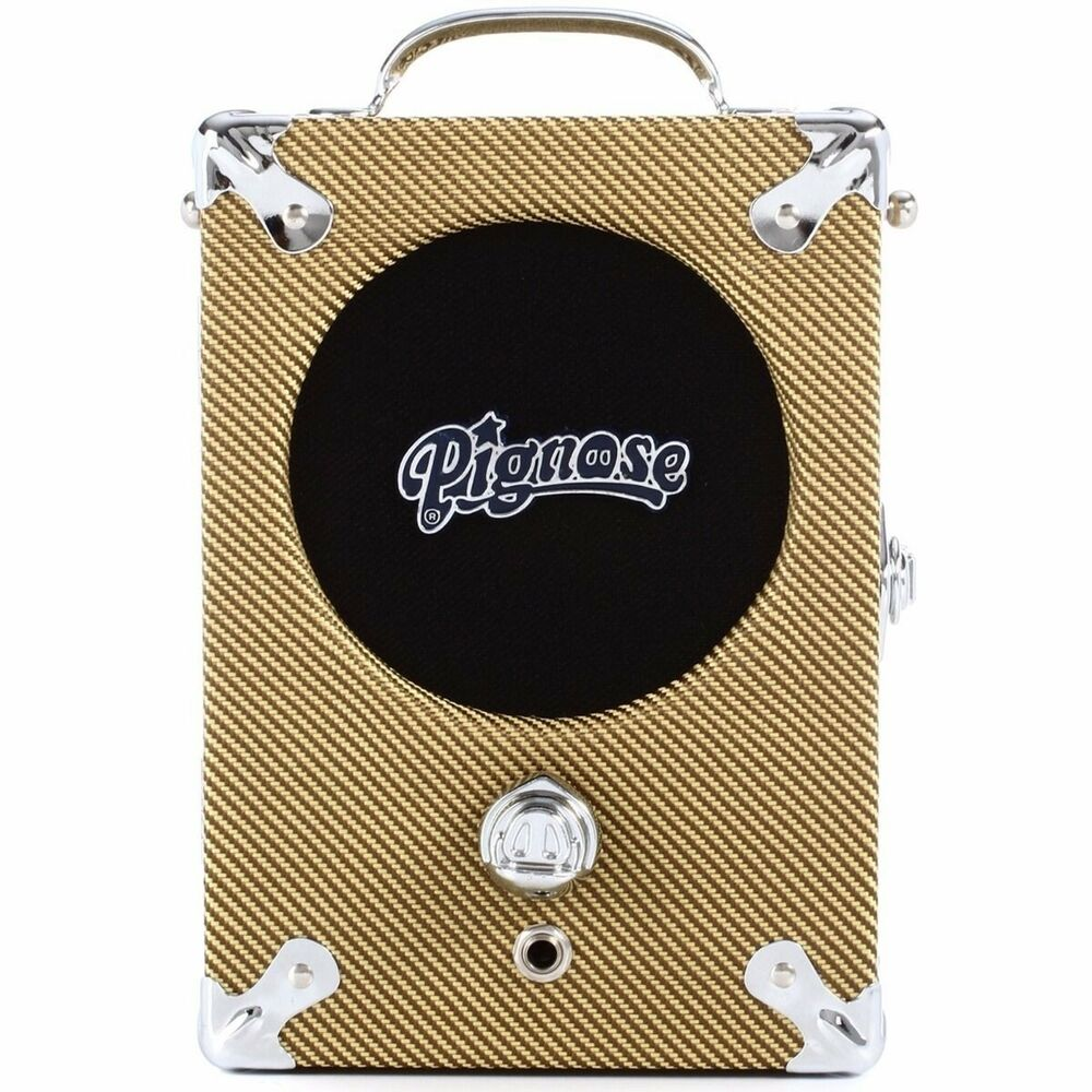 new pignose tweed 7 100tw portable guitar amplifier amp battery powered ebay. Black Bedroom Furniture Sets. Home Design Ideas