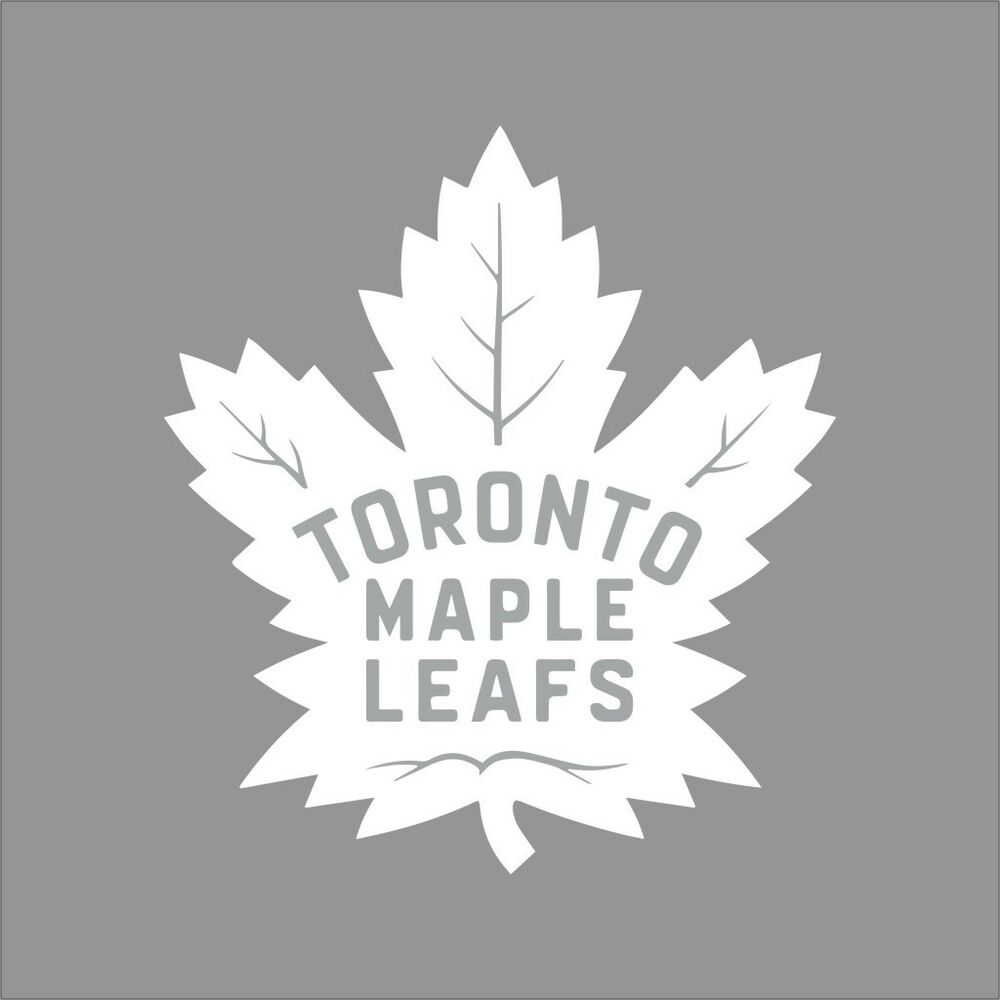 Toronto Maple Leafs 6 Nhl Team Logo 1color Vinyl Decal