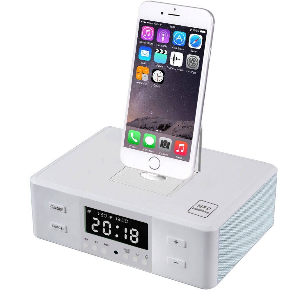 new nfc bluetooth speaker remote charging dock station for iphone 7 6s samsung ebay. Black Bedroom Furniture Sets. Home Design Ideas