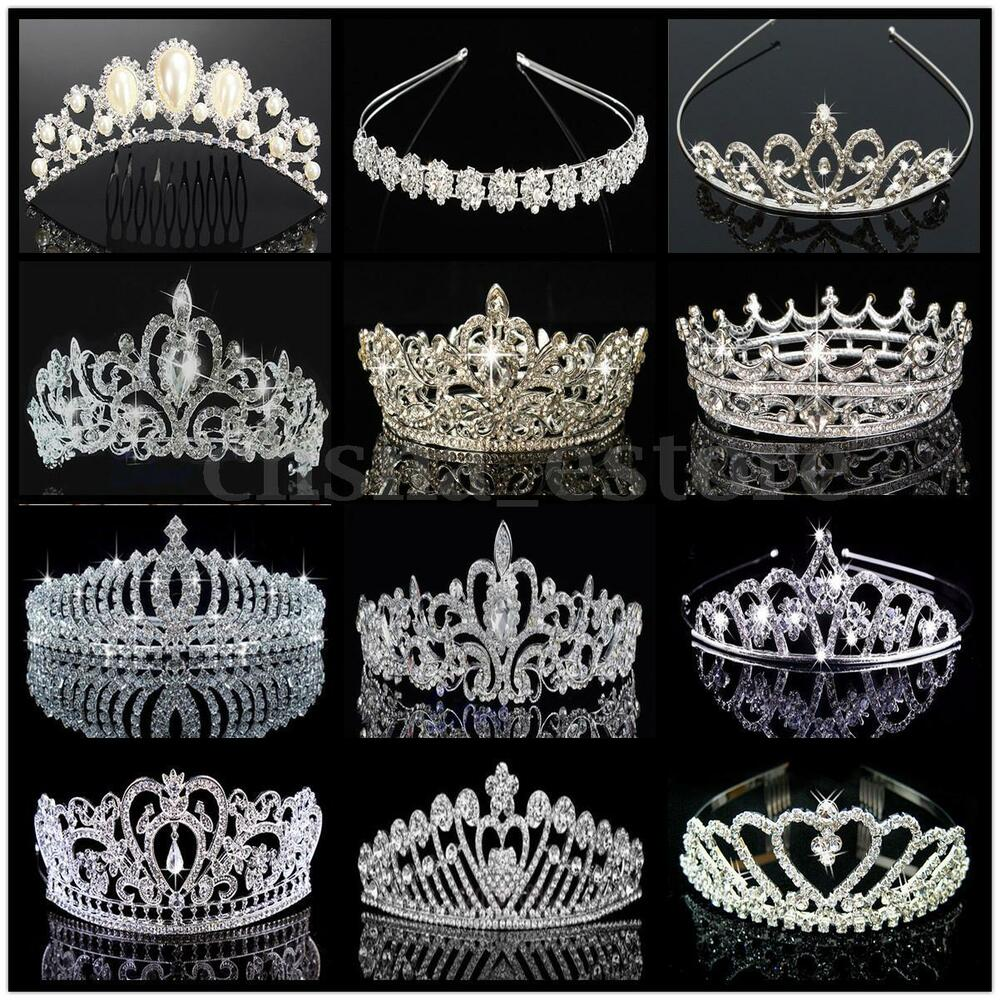 Princess Austrian Bridal Crystal Wedding Hair Tiara Crown