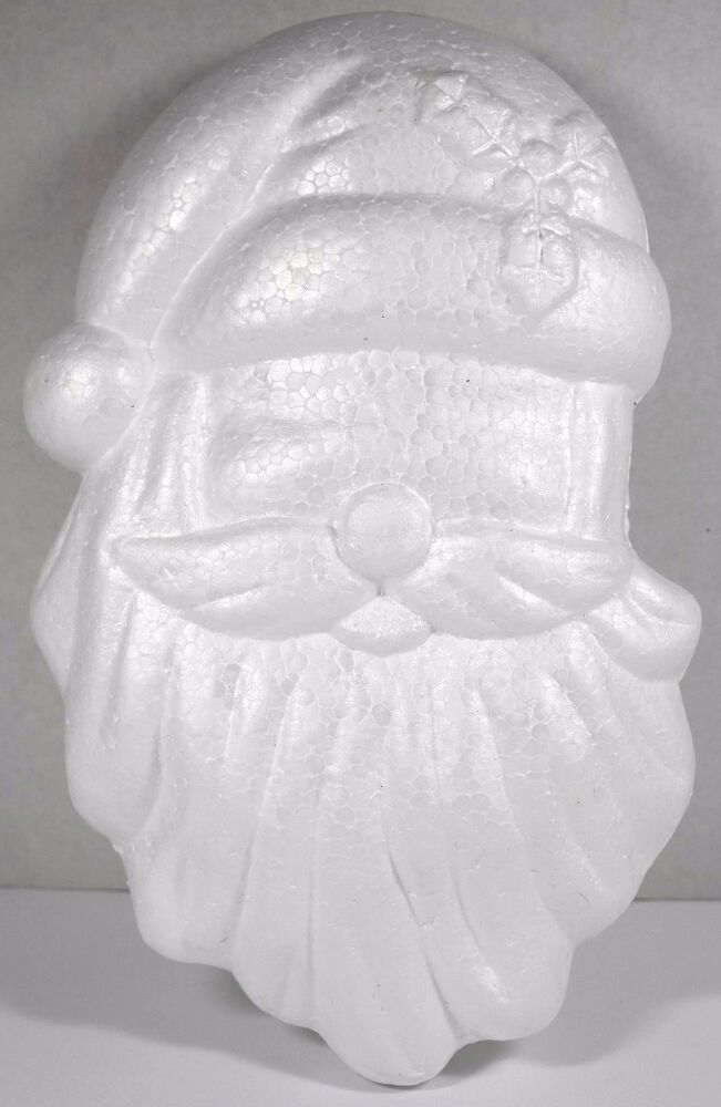 Santa Head 11 Styrofoam Christmas Holiday Foam Shape