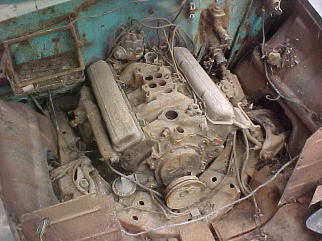 1956 56 Parts Car Engine Motor 265 Small Block Chevy