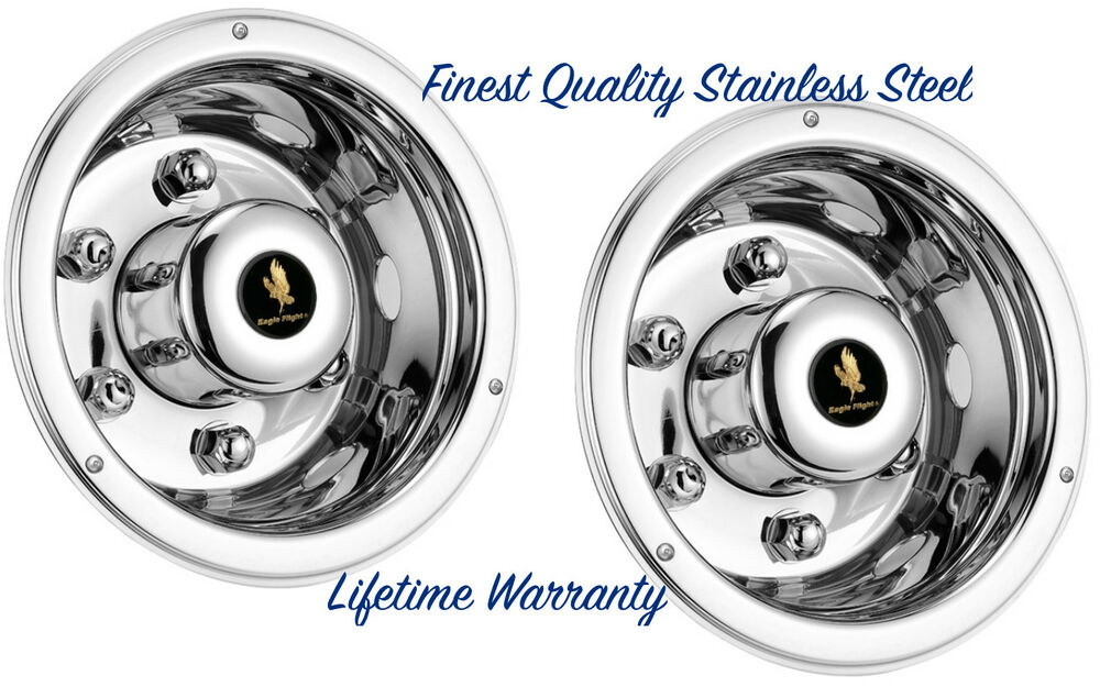 17 5 Quot Trailer Stainless Steel Wheel Covers Hub Caps