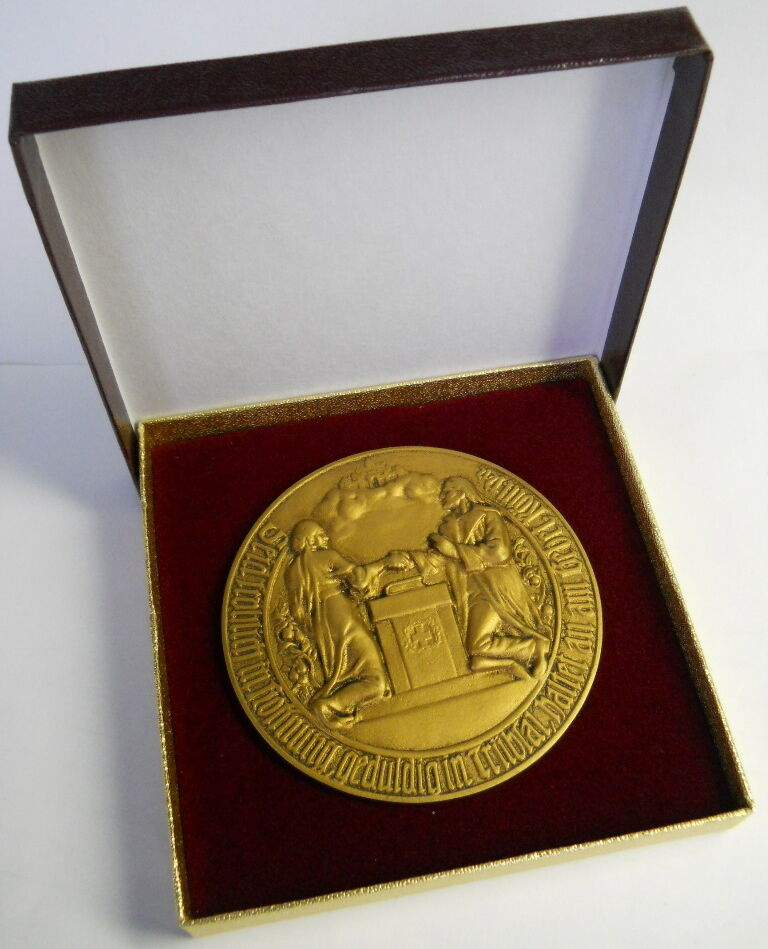 Wedding Gift Stores Nyc: RARE GERMAN GOLDEN WEDDING ANNIVERSARY GOLD TONE MEDAL