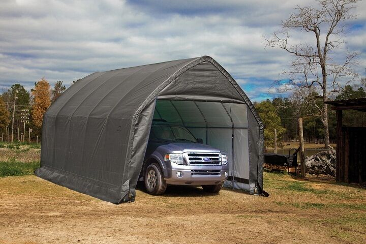 ShelterLogic 13x20x12 Truck Shelter Portable Garage Steel ...