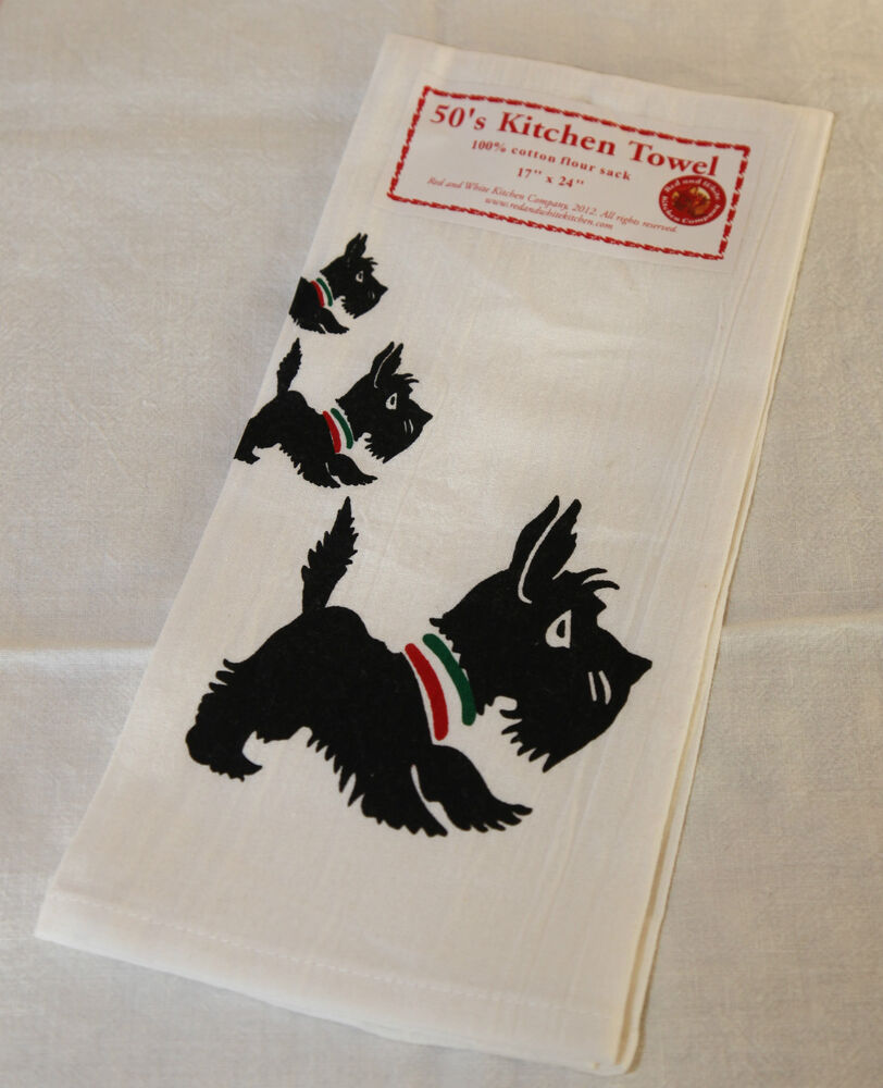 Retro Vintage Style Cotton Flour Sack 50's Kitchen Towels