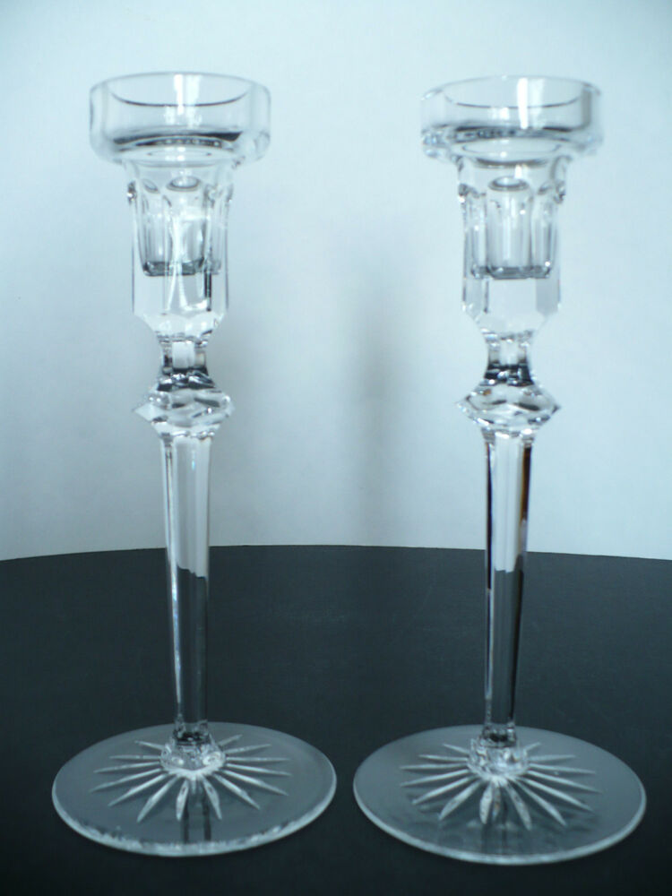 Rogaska glass crystal candlestick votive 8 tall candle for Glass 2 glass