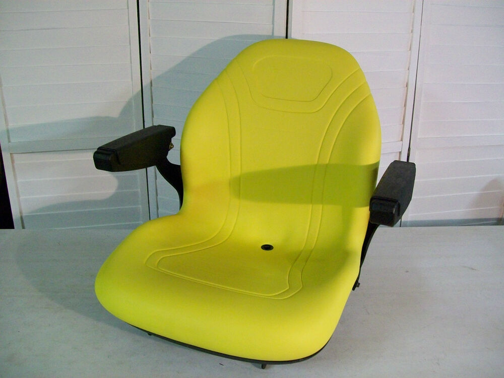 John Deere 445 Tractor Seats Replacement : Yellow seat fits john deere