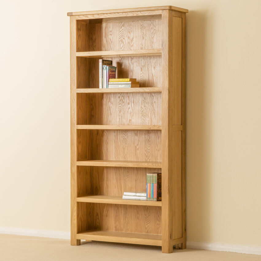 Roseland oak large bookcase solid tall