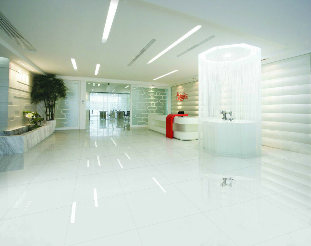 White Porcelain Floor Tiles 60 X 60 Cm 10mm Gloss Nano