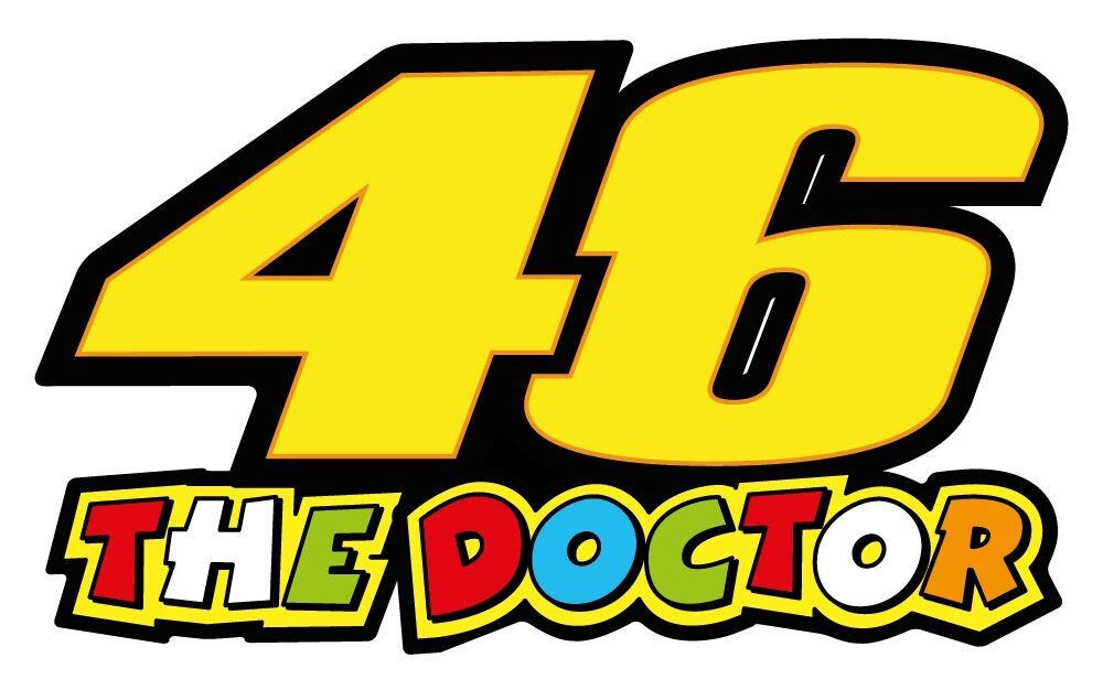 Sticker 46 valentino rossi - Valentino Rossi 46 The Doctor Vinyl Sticker Decals 150 X