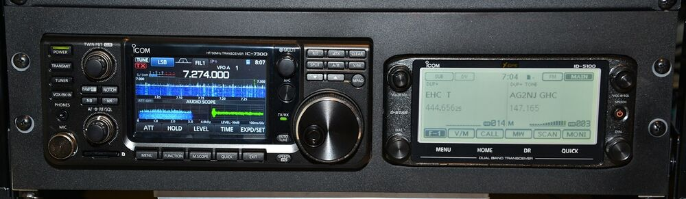 Icom Ic 7300 Rack With Id 5100 Aperture Special 3u With