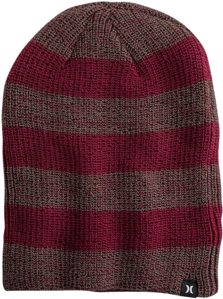 db8aed42b04 NEW MENS HURLEY twin finner BEANIE HAT MULTI COLORED ONE SIZE RED  889294131832