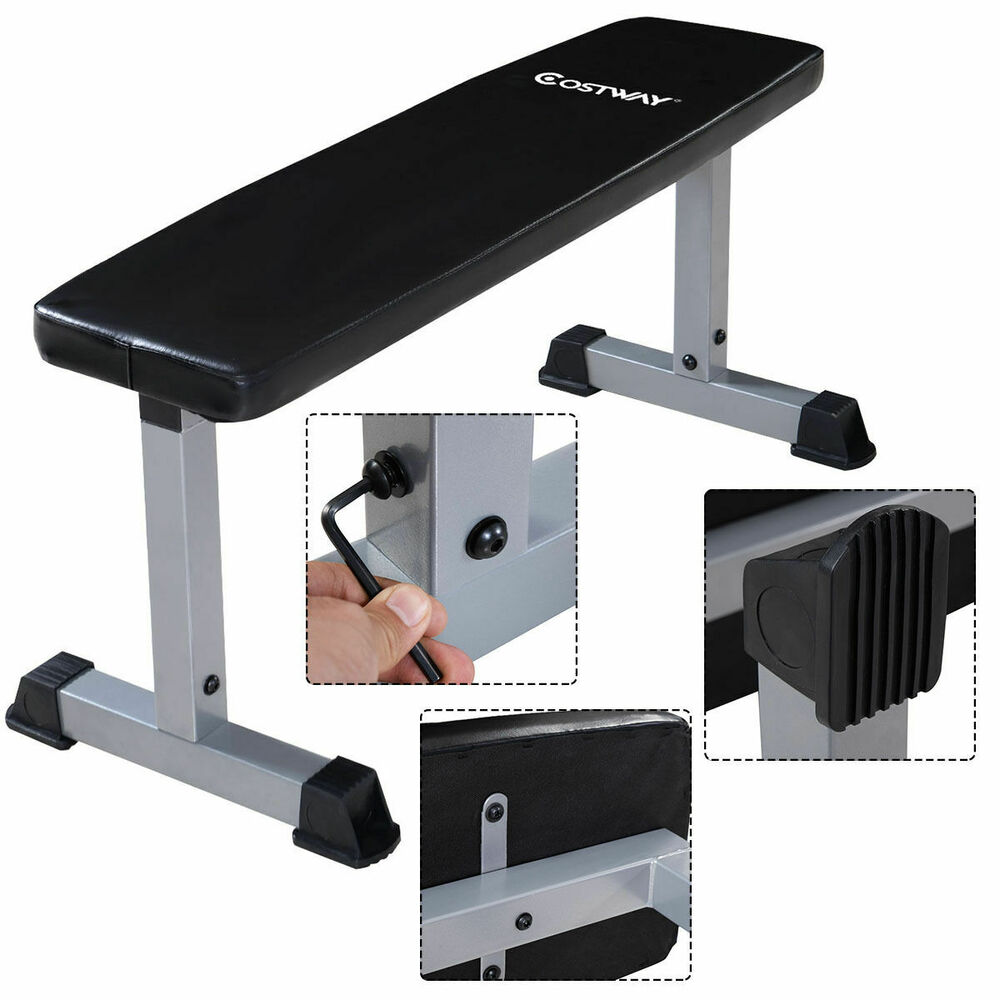 Costway Sit Up Bench Flat Crunch Board Ab Abdominal Fitness Weight Exercise New Ebay