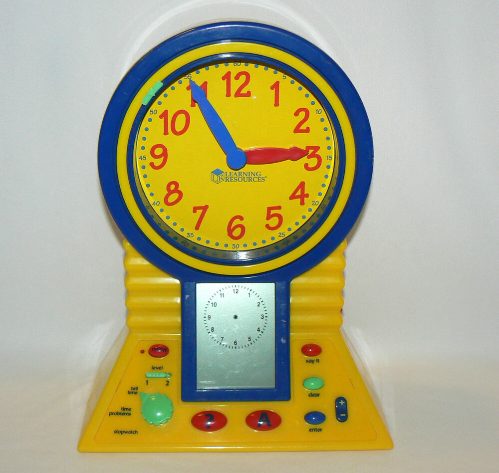 CLEVER CLOCK LEARNING RESOURCES TIME CLOCK EDUCATIONAL ...