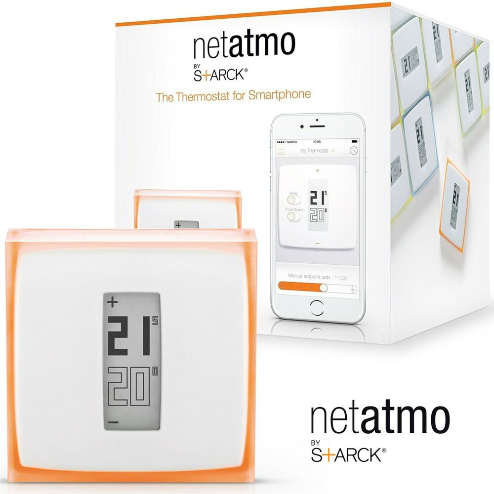 netatmo home heating thermostat for smartphone mobile control energy saving new ebay. Black Bedroom Furniture Sets. Home Design Ideas