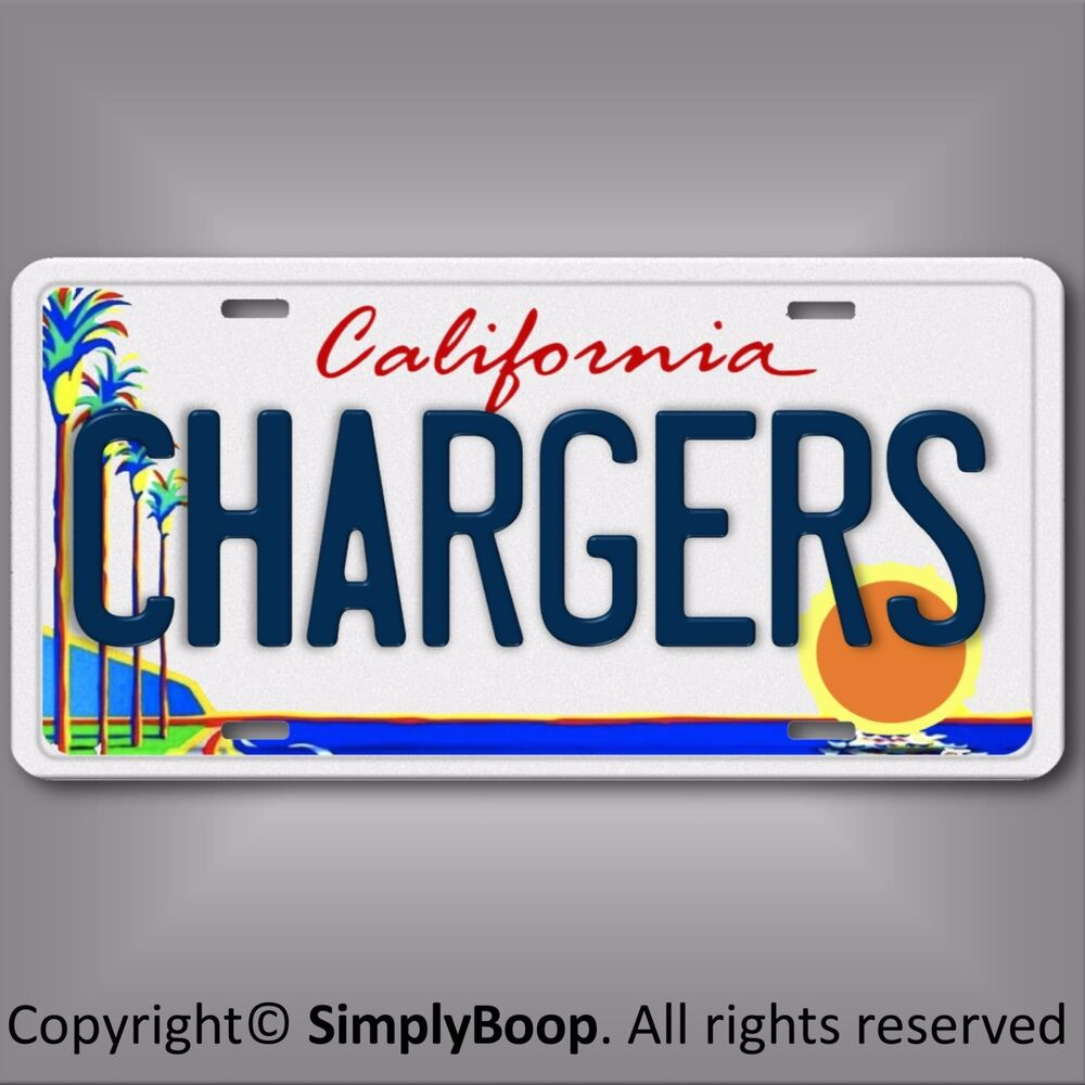 San Diego Chargers Nfl Afc West Team Aluminum License