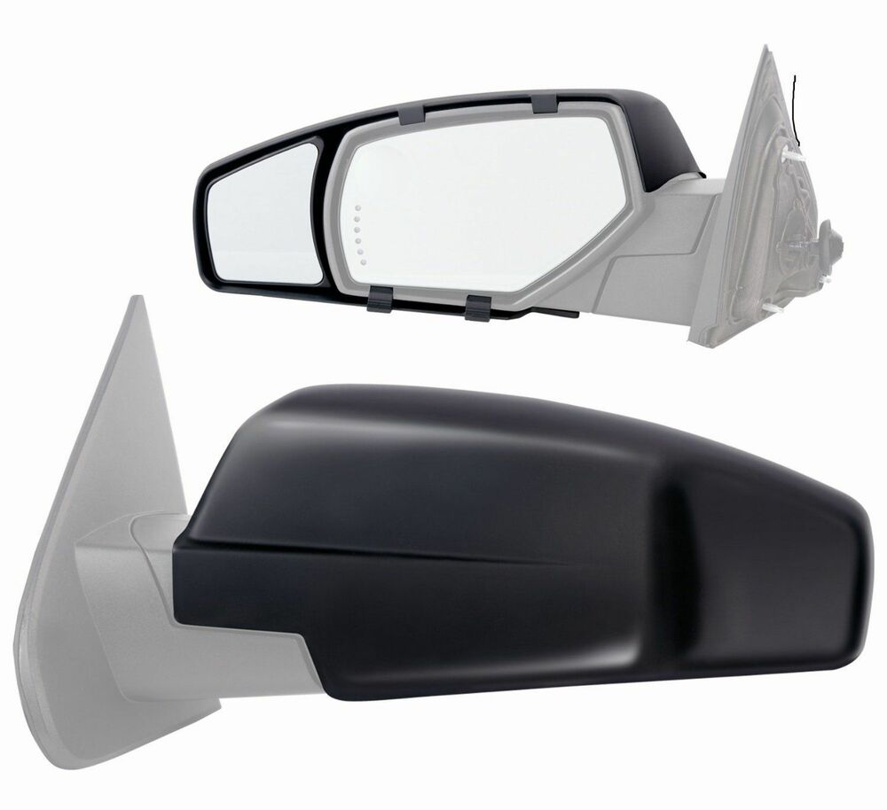 2014 chevrolet silverado gmc sierra 1500 clip on towing mirror extension pair ebay. Black Bedroom Furniture Sets. Home Design Ideas
