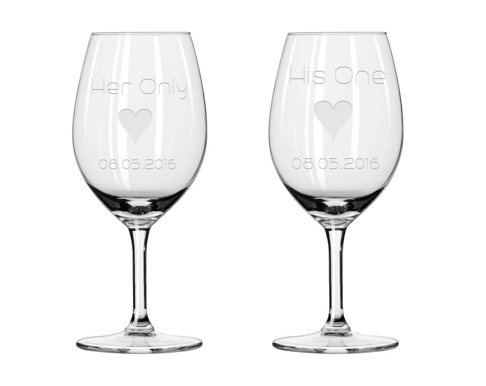 2x wine glasses his and her wine glasses couple wine glass wine glass ebay - Beaker wine glasses ...