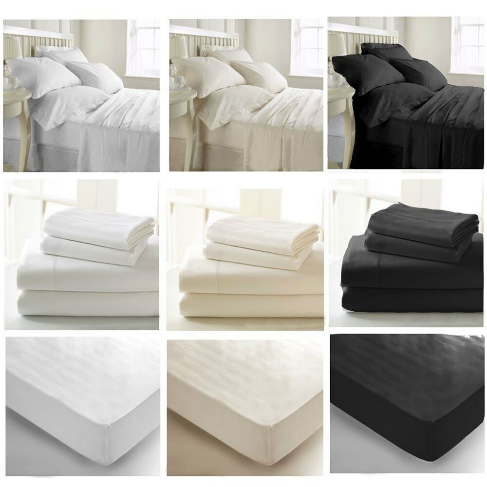 400 t c luxury egyptian cotton bedding duvet cover fitted sheet flat sheet ebay. Black Bedroom Furniture Sets. Home Design Ideas