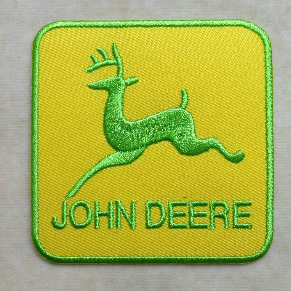 John Deere Emblem Embroidery Designs : John deere logo embroidery iron on patch badge ebay