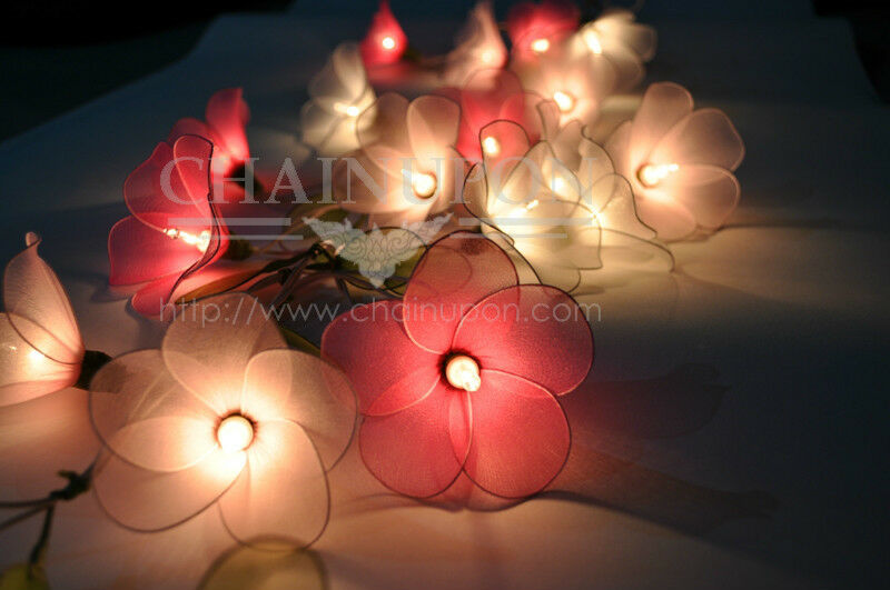 flower string lights for bedroom pink tone flower string floral patio decor teen 18698