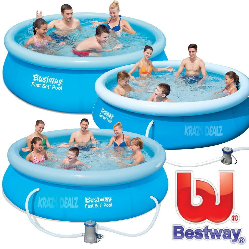 bestway fast set swimming pool with or without pump 8ft. Black Bedroom Furniture Sets. Home Design Ideas