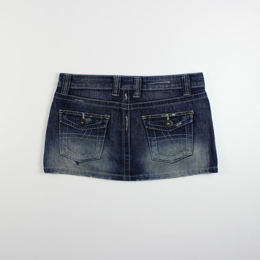 Topshop womens size 10 moto blue denim mini skirt ebay for Womens denim shirts topshop