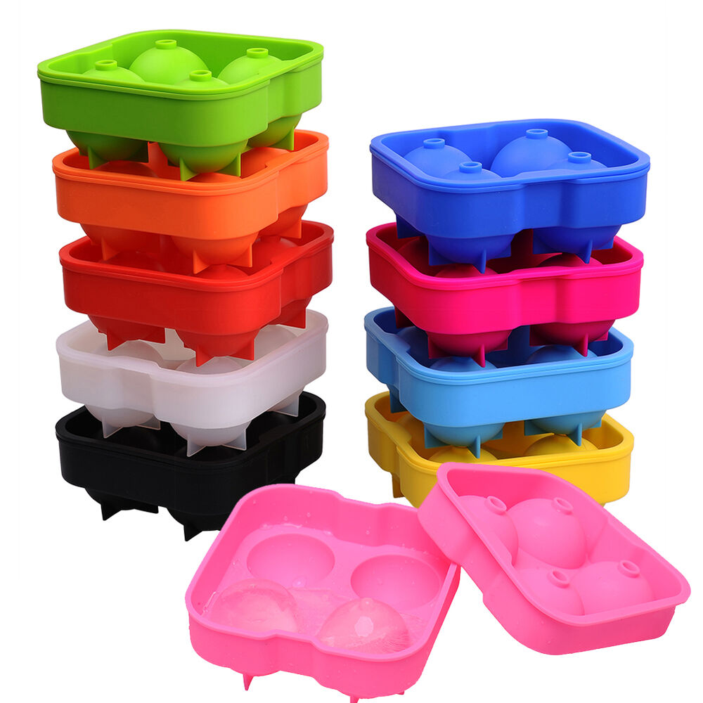 silicone spherical round ball ice cube tray maker mold bar kitchen diy ebay. Black Bedroom Furniture Sets. Home Design Ideas