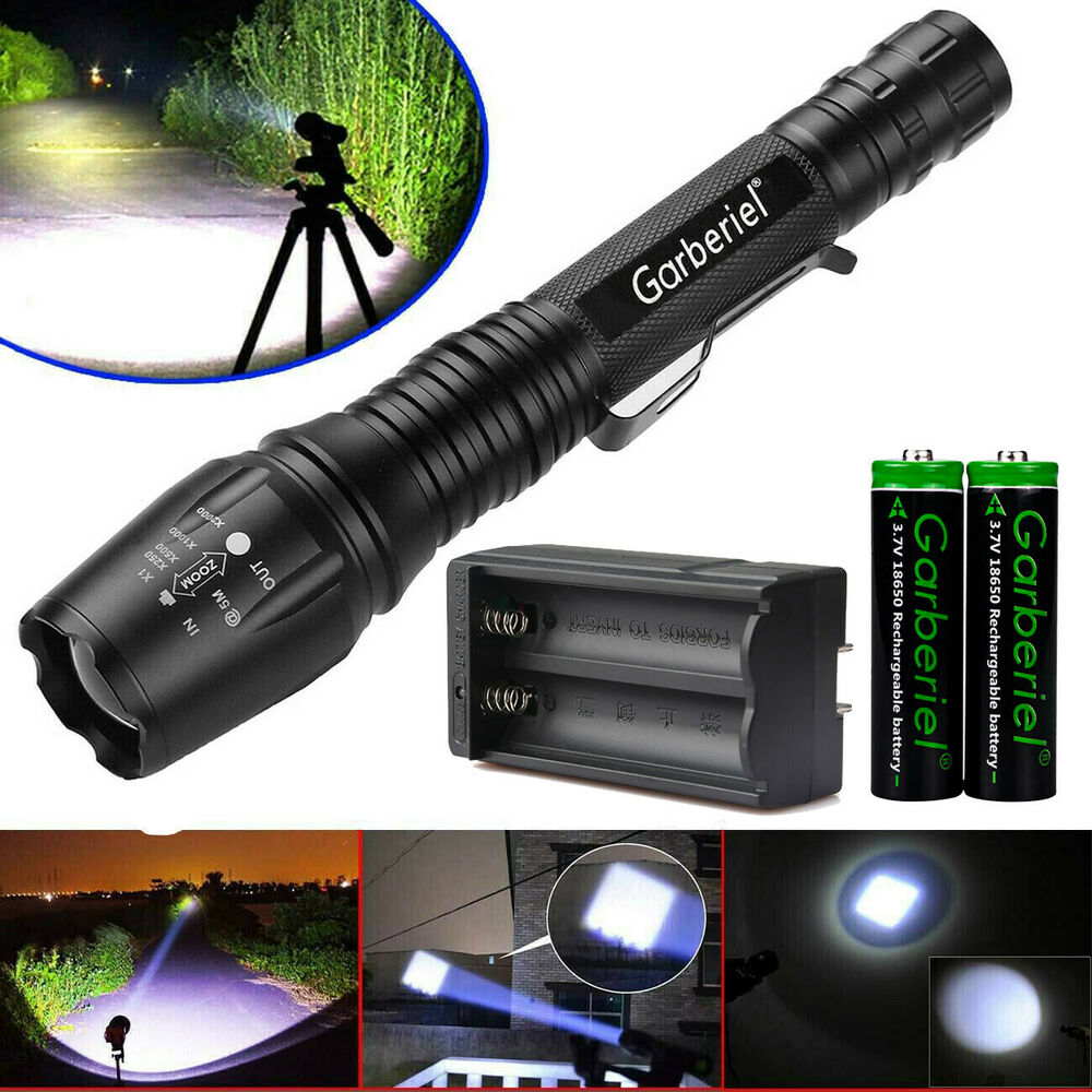ultrafire 10000 lumen 5modes tactical t6 led flashlight torch 18650 zoomable ebay. Black Bedroom Furniture Sets. Home Design Ideas