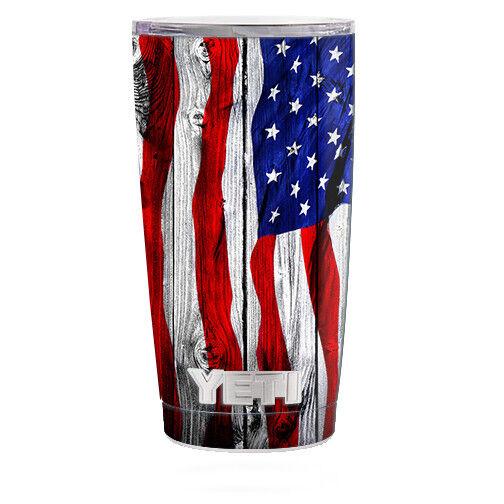 Skin Decal For Yeti 20 Oz Rambler Tumbler Cup American
