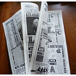 11X17inch. The Daily Prophet Newspaper 8 pages. Harry Potter movie prop.