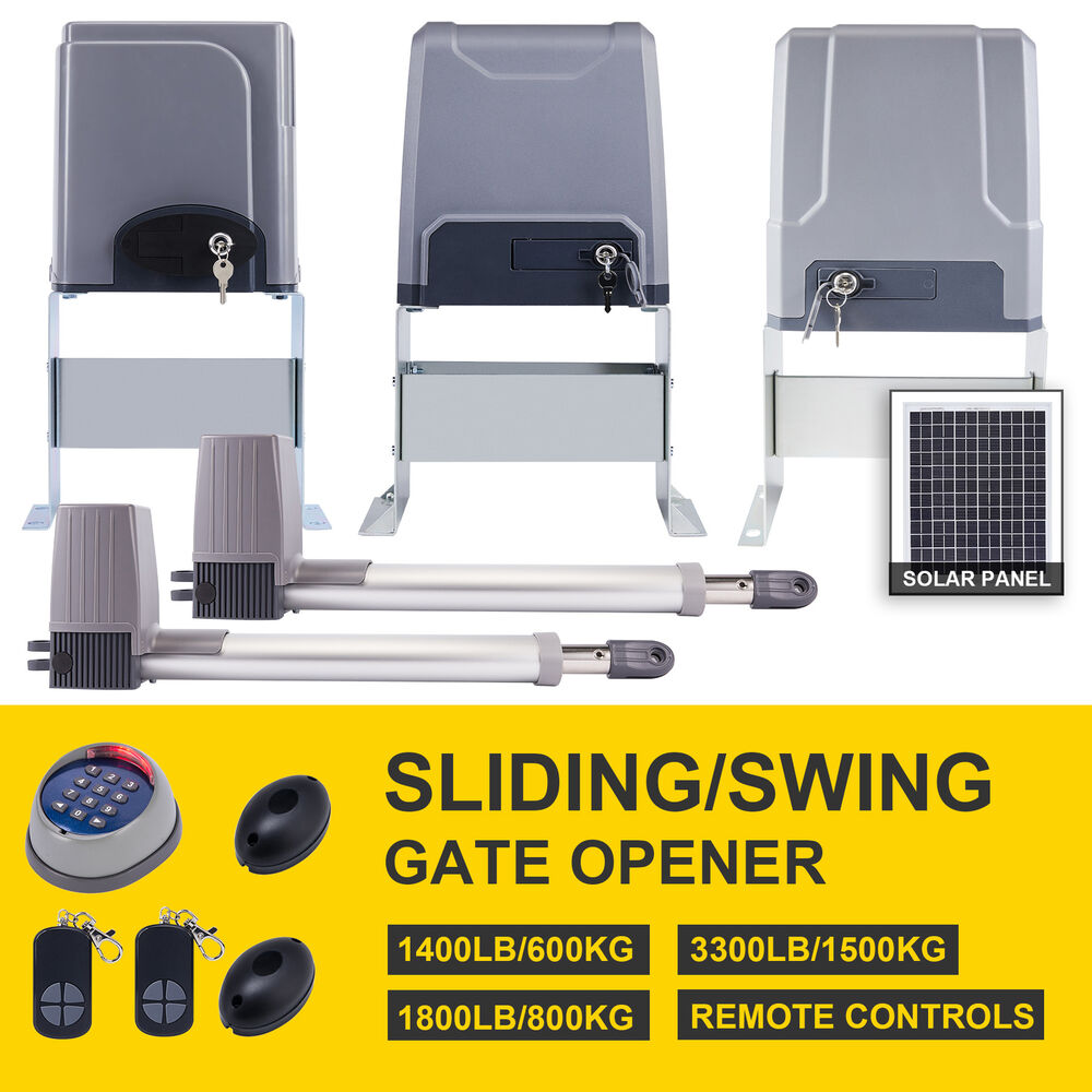 Electric Automatic Sliding Gate Opener 1400 Lbs Driveway