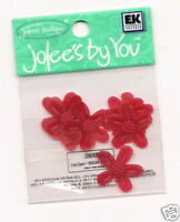 Jolees by you Embellishment Red Pansy flowers  1-10pk Scrapbook Crafts __F2