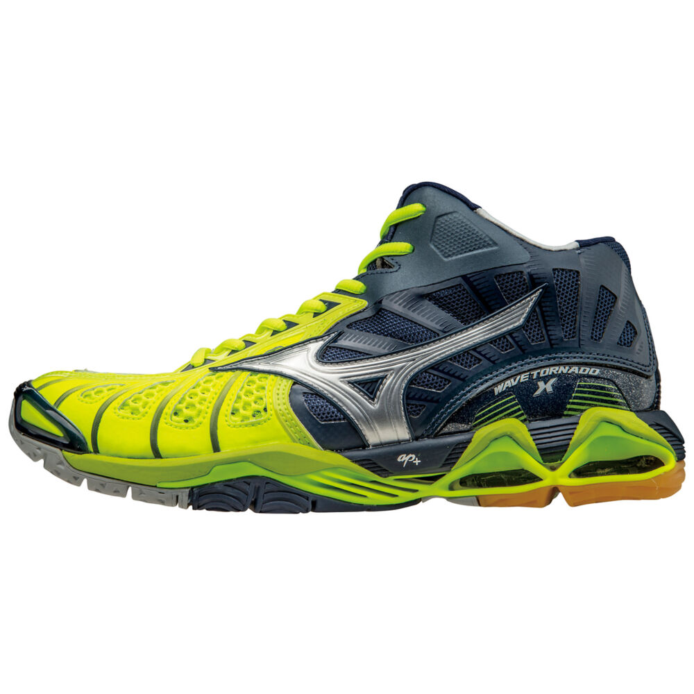 Mizuno Men's Wave Tornado X Mid Volleyball Shoes - Neon ...