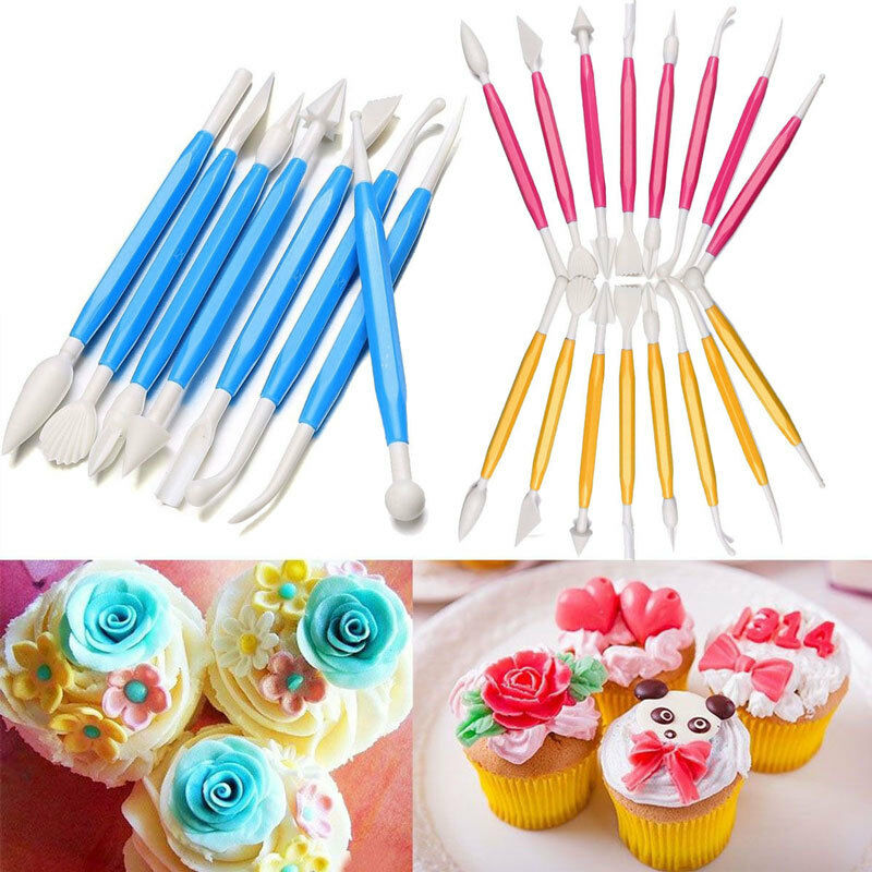 8pcs Fondant Cake Decorating Sugarcraft Paste Flower Modelling Tools Set Kit eBay