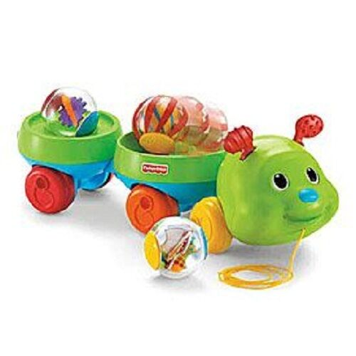 New Spin Toys : Fisher price pull spin caterpillar roll around infant