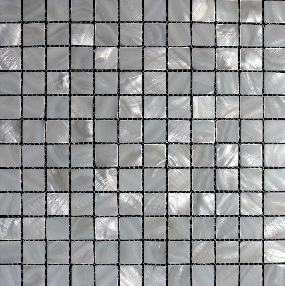 Quot White Oyster Quot Pearly White Mother Of Pearl Mosaic Tile