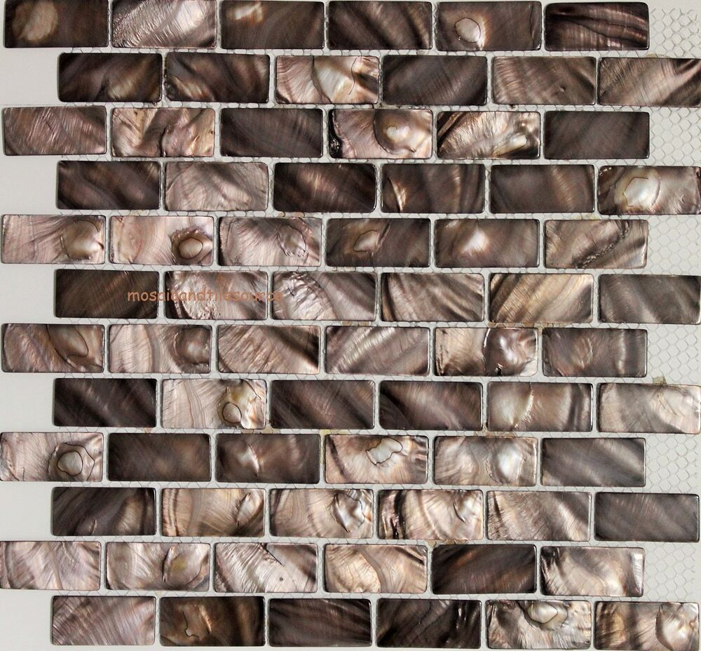 Oyster Emperador Mother Of Pearl Brown Mosaic Tile Shell