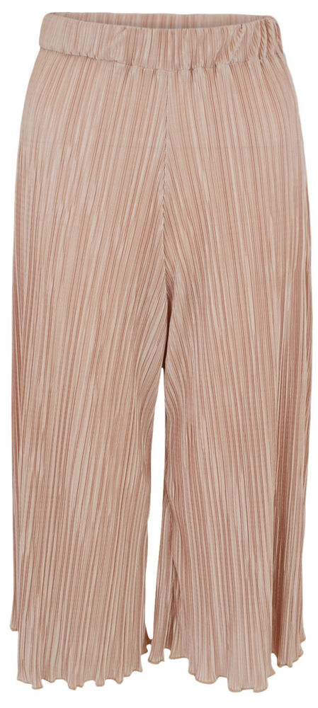 New Ladies Women Pleated Culotte Trousers Pink Size UK 6 8 ...