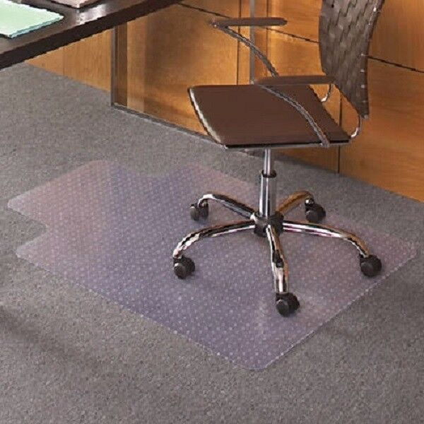 36 X 48 Carpet Home Office PVC Floor Mat With Lip For Office Rolling Ch